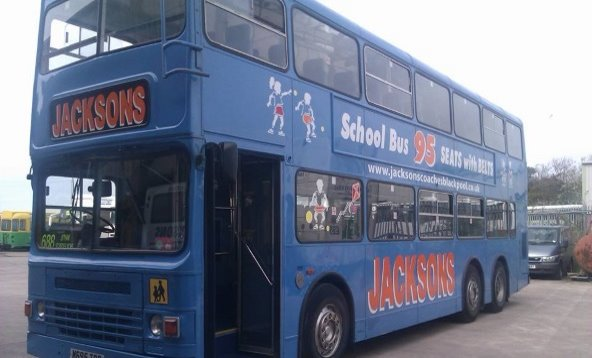 Partial Branding to Jacksons Coaches School Bus