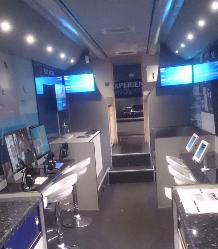 Medtronic Exhibition bus interior