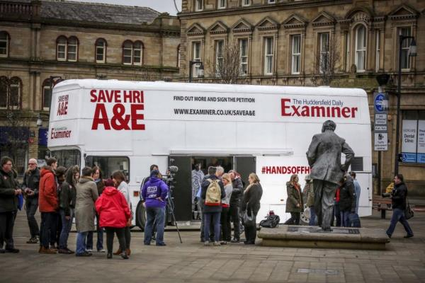 RSP03 Huddersfield A&E Promotional bus