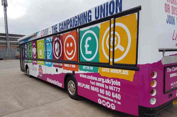 RSP07 USDAW Promotional bus
