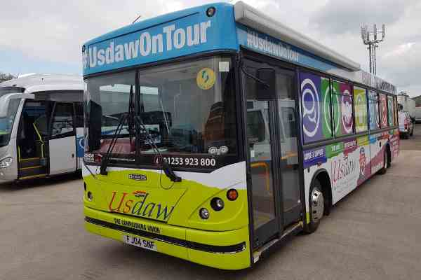 RSP07 USDAW Exhibition Bus