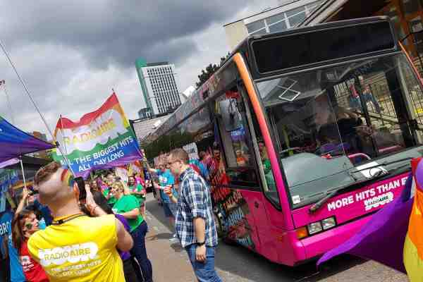 RSP08 Radio Aire Gay Pride Leeds Promotional bus
