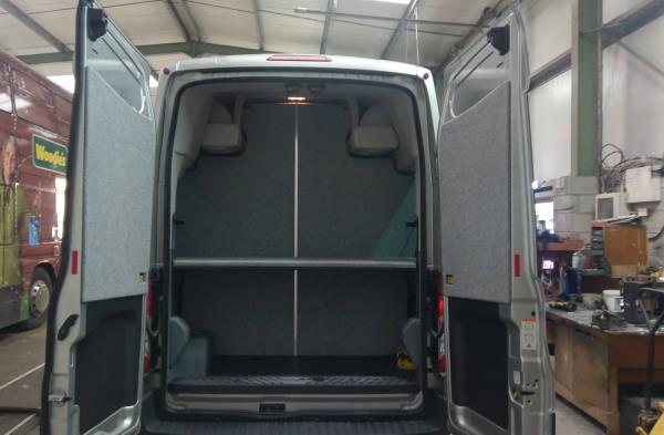 East Yorkshire Youth Outreach Van Conversion Interior