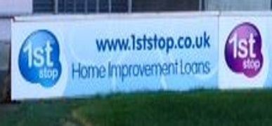 New 1st Stop Banners at Blackpool FC Ground