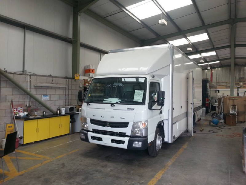 Isle of Wight HGV Truck Conversion to Youth Interaction Behicle