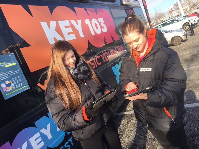 Key103 Promotional BusGreater Manchester NHS