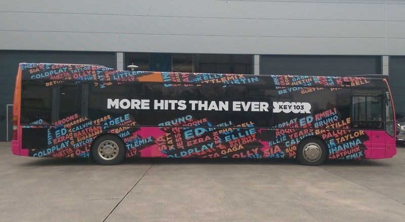 RSP08 single decker media bus re branded for Manchester&