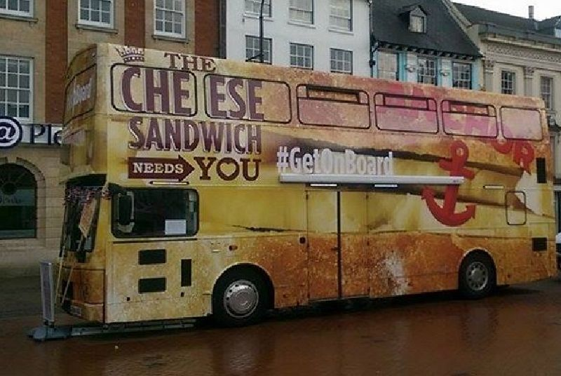 Anchor Cheese Branded Promotional Bus