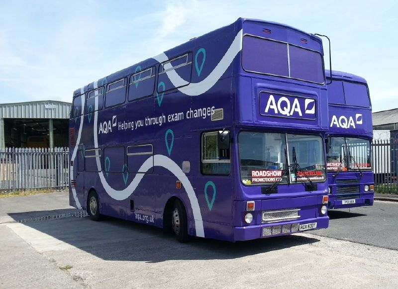 AQA Training Buses Ready to depart Blackpool