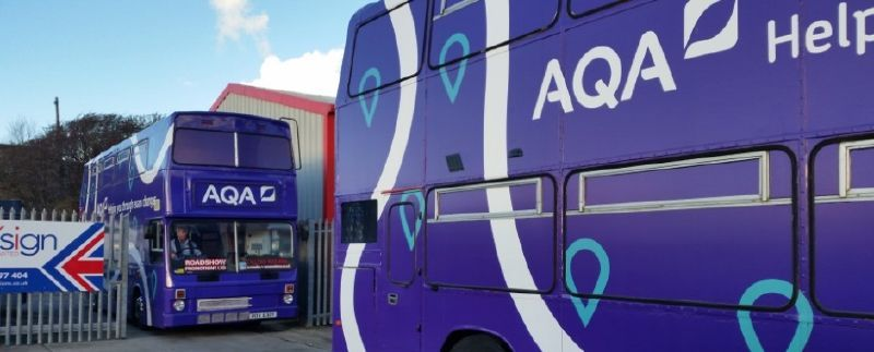 AQA Training Buses Departing Blackpool