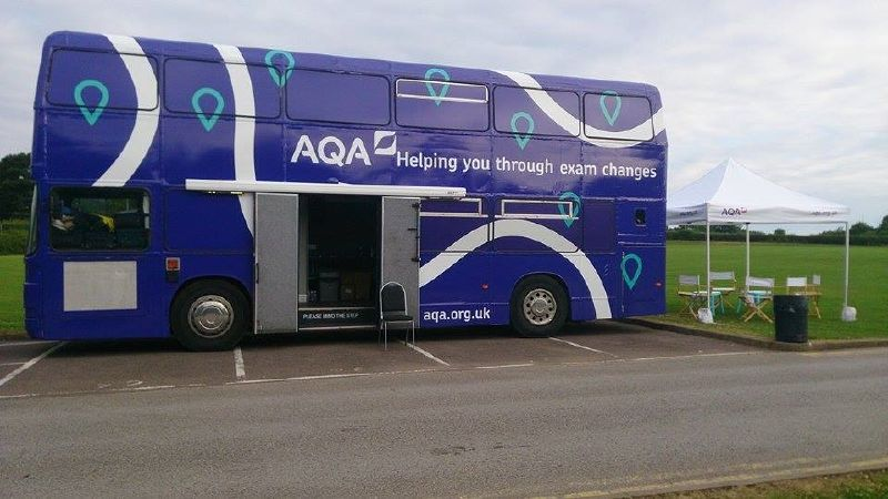 AQA Training Bus Tour Double Decker Bus