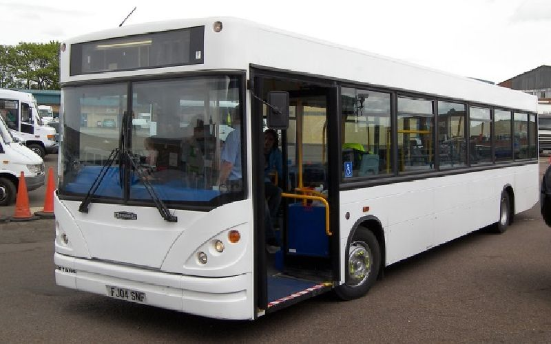 Converted contract Hire bus ready for work