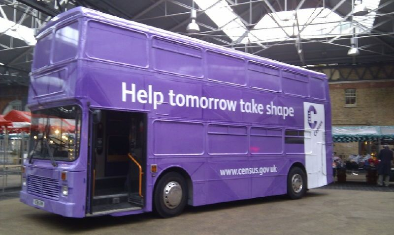 Census 2011 Promotional Bus Manchester