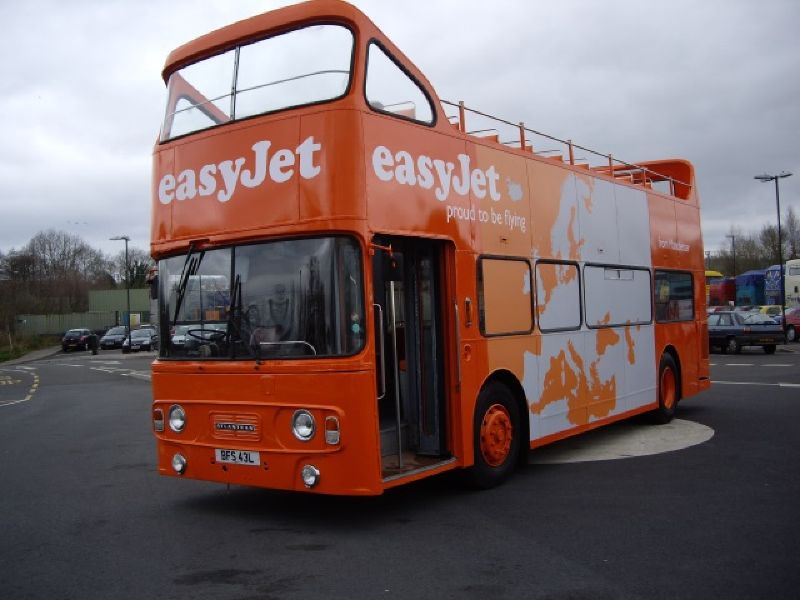 EasyJet Branded Promotional Bus