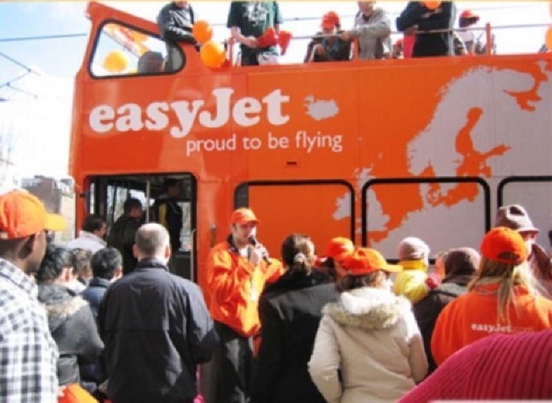 EasyJet Promotional Bus Manchester