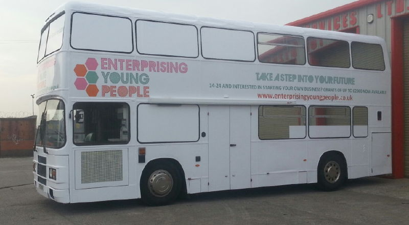 Exhibition Bus for Enterprising Young People Barnsley