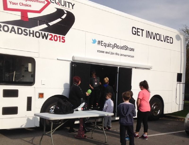 Equity Housing Promotional Bus