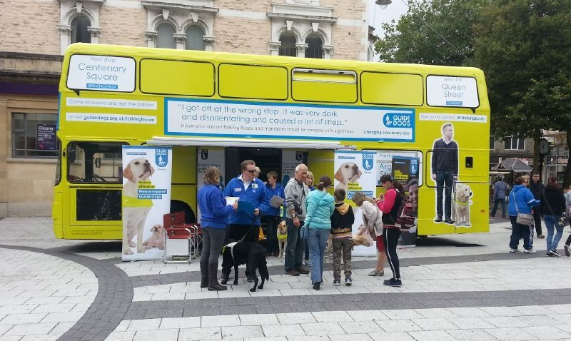 Guide Dogs Promotional Bus Birmingham