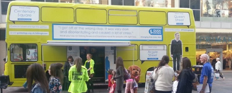 Guide Dogs Promotional Bus Talking Buses Campaign