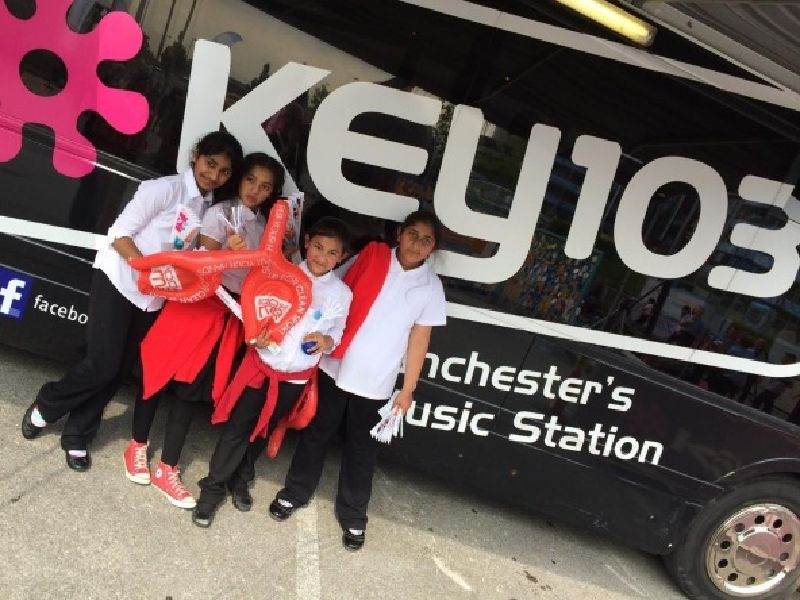 Key103 Media Bus Greater Manchester School Visits
