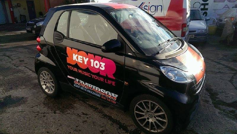 New Look branding for Key103 Cars