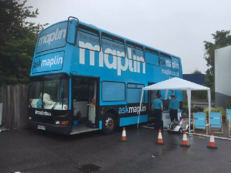 Maplin Exhibition Bus Tour Starts