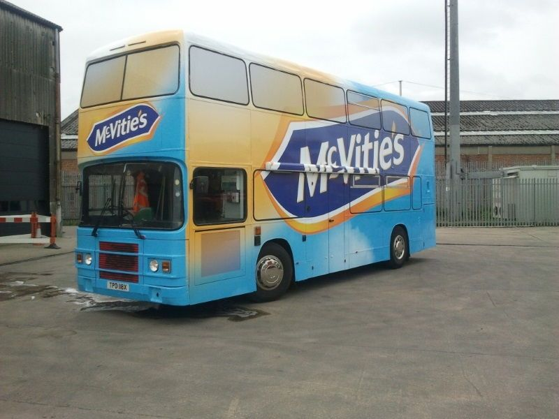 McVities Mobile Exhibition Bus Branded