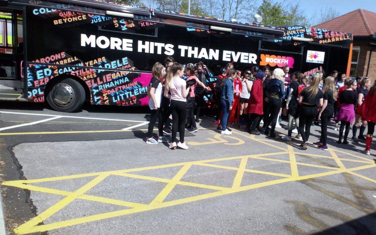Superhero Day with Rock FM Media Bus