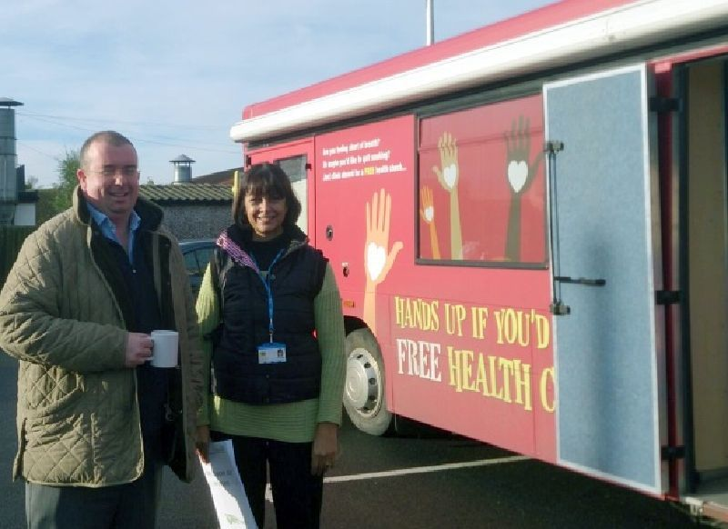 East Lincolnshire NHS Mobile Clinic Health Bus Hire