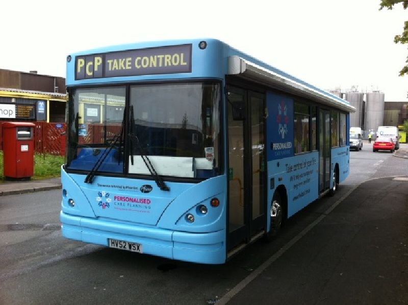 NHS Midlands and East Personalised Care Plans Health Bus