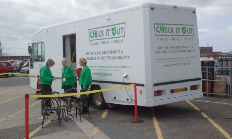 NHS North Lancashire Mobile Clinic Vehicle