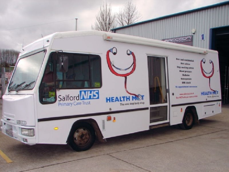 Salford Manchester Mobile Clinic Bus