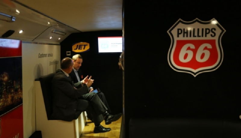 Phillips 66 Jet Hospitality Bus