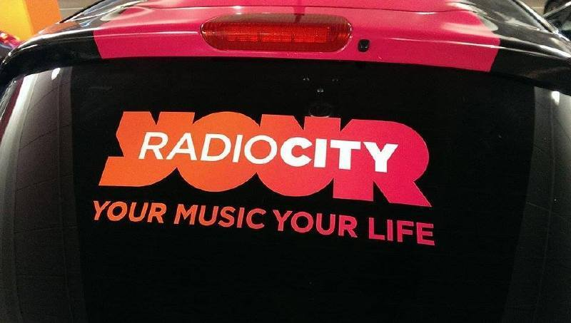 Radio City Car Re branded with vinyl