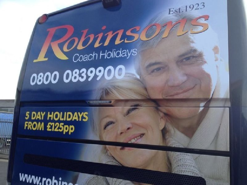 Coach Branded for Robinsons Coaches