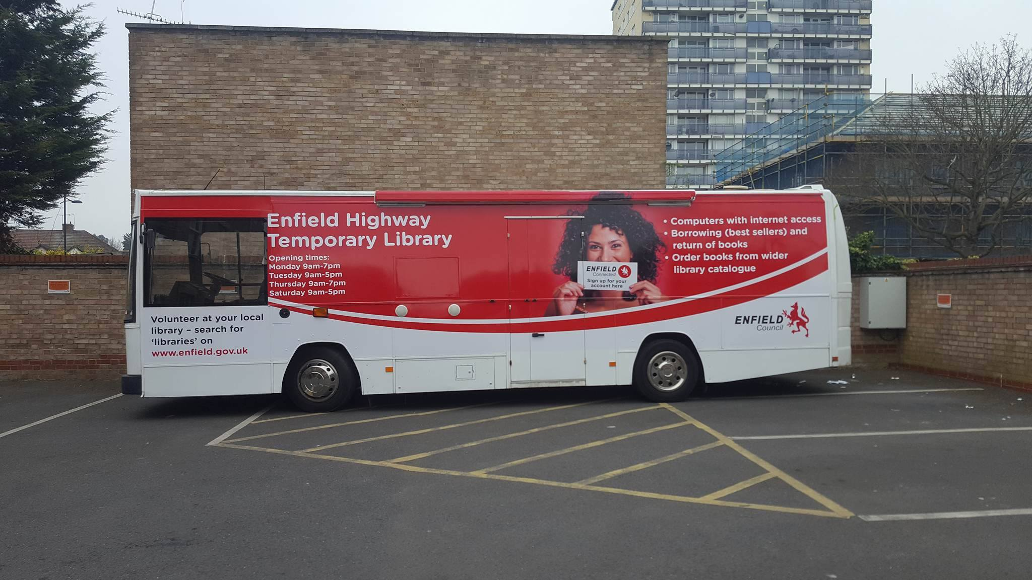 Enfield Library Replacement Bus
