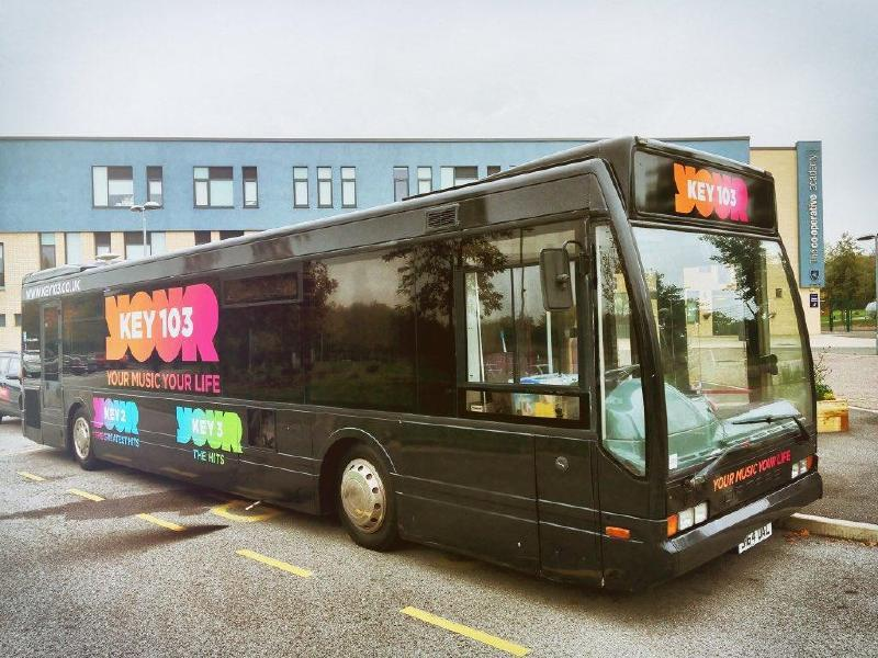Key103 Media Training Bus Positive Steps Manchester