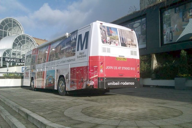 Branded advertising Bus Hire
