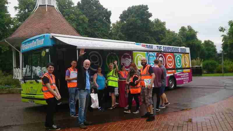 USDAW Promotional Bus Scotland