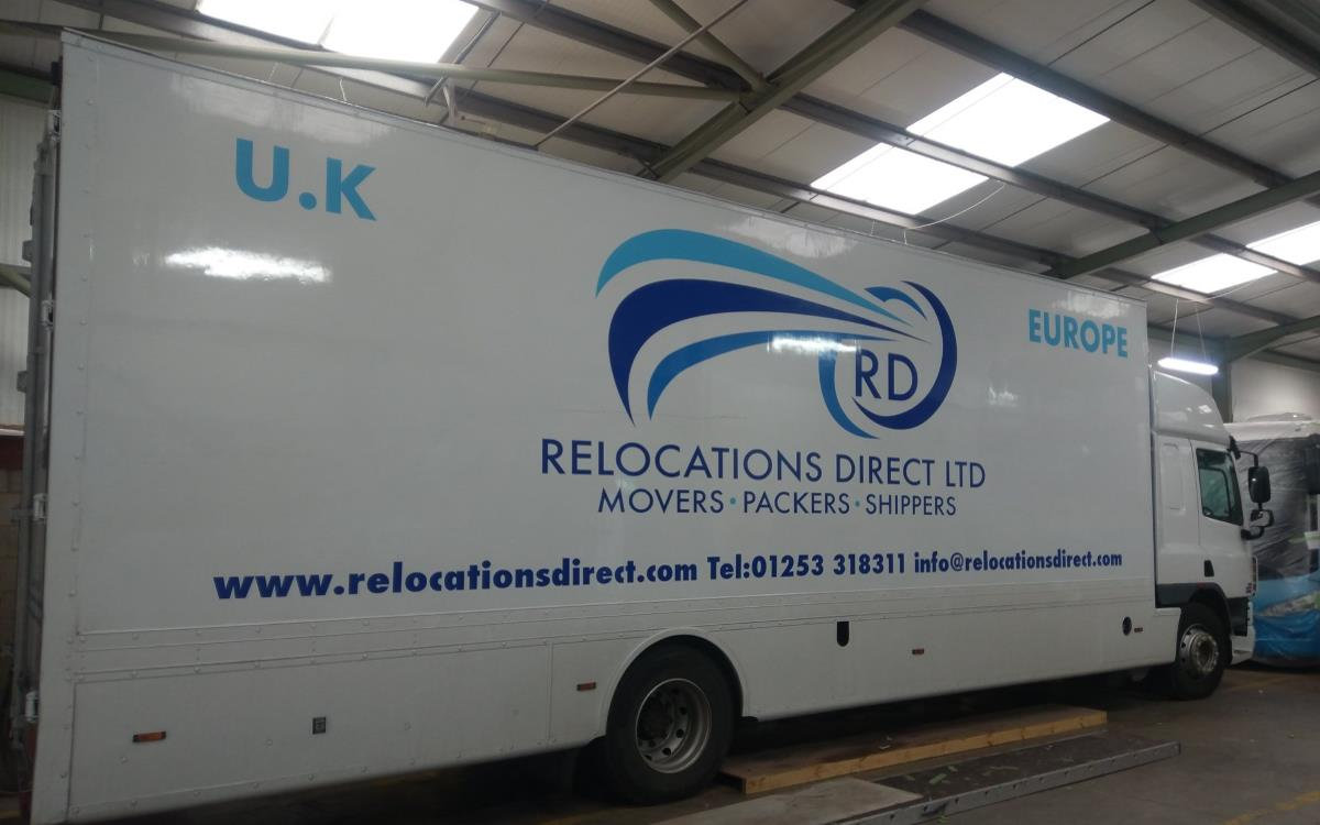 Relocations Direct HGV Van Branding
