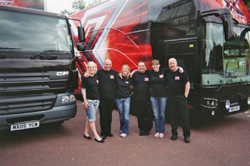 X Factor Promotional vehicle crew