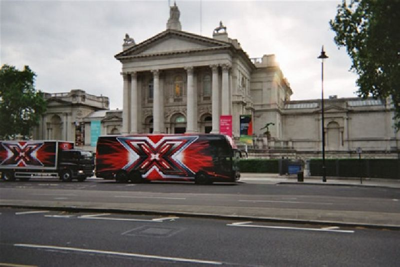 X Factor promotional Coach and Truck