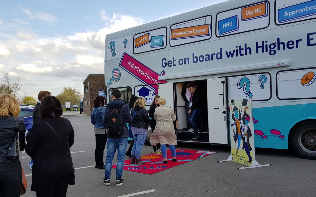 Go Higher West Yorkshire Mobile Classroom Bus Community Engagement