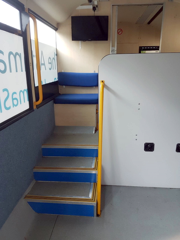 Steps to Rear Consultation room and waiting area