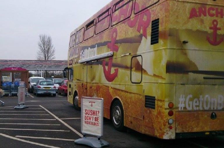 Anchor Cheese Promotional Bus