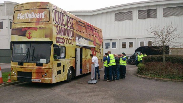 Anchor Cheese Double Decker Promotional Bus