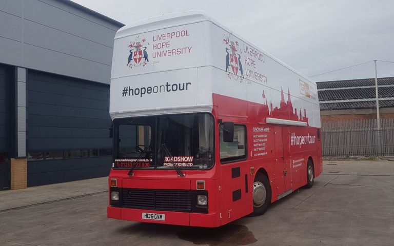 RSP03 Liverpool Hope University Exhibition Bus Exterior Branding