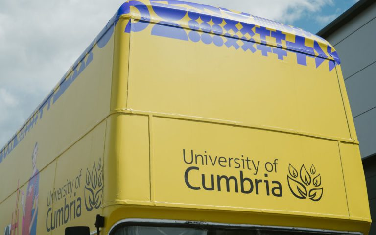 University of Cumbria Branded RSP03 Roadshow Bus