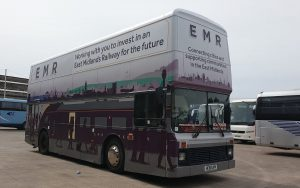 east Midlands Railway Staff Engagement Bus